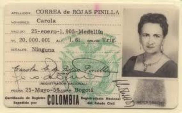 voto  femenino en Colombia
