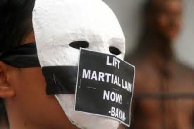 Martial Law declared