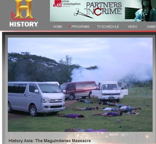 History Channel documentary on Maguindanao massacre