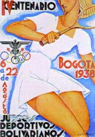 Carteles para los juegos bolivarianos