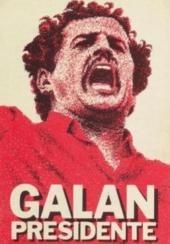 Afiche para la campaña electoral de luis carlos galán