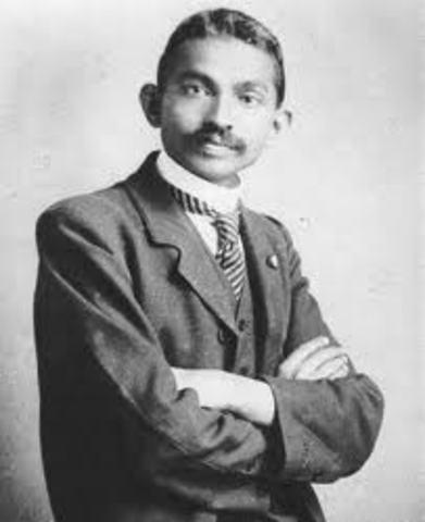 Gandhi graduated as a Lawyer.
