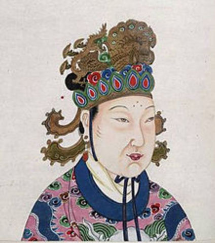 Empress Wu Zhao takes the thone