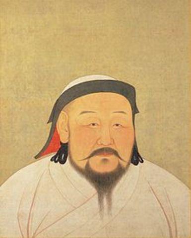 Kublai Khan takes the thone