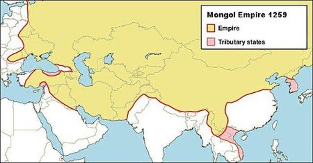 Genghiz Khan establishes the Mongol Empire