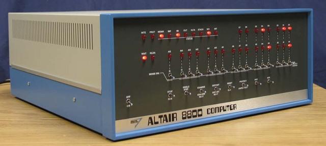 El Altair 8800 computer