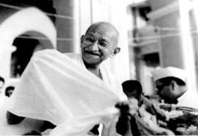 Gandhi's six year of disobedience.