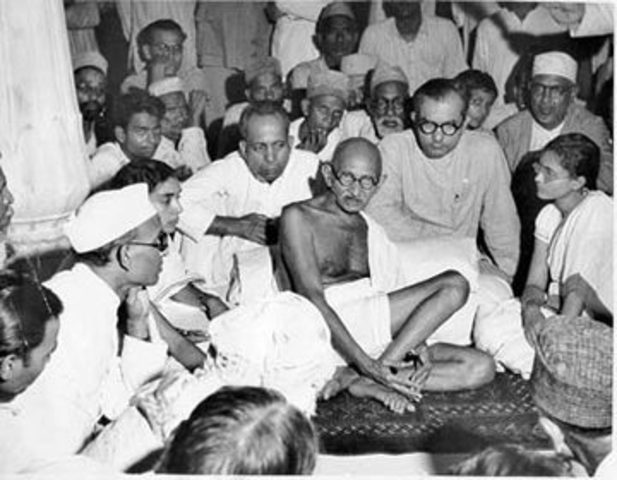 Gandhi's fasted for 21 days