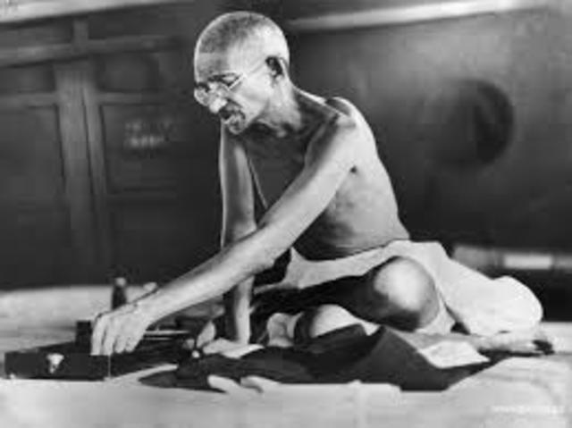 Gandhi's fasted in non-violent action