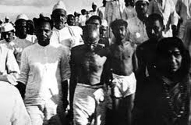 Gandhi's biggest walk