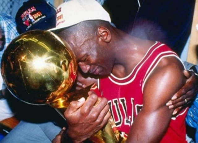 The first NBA title for the Chicago Bulls