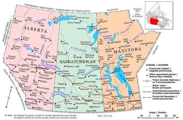 Alberta and Saskatchewan join Canada