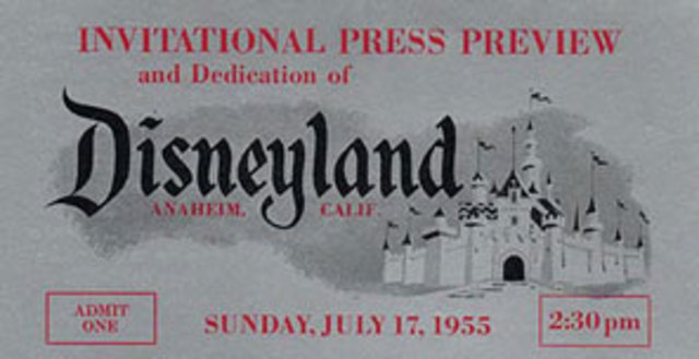Disney land opens for the first time
