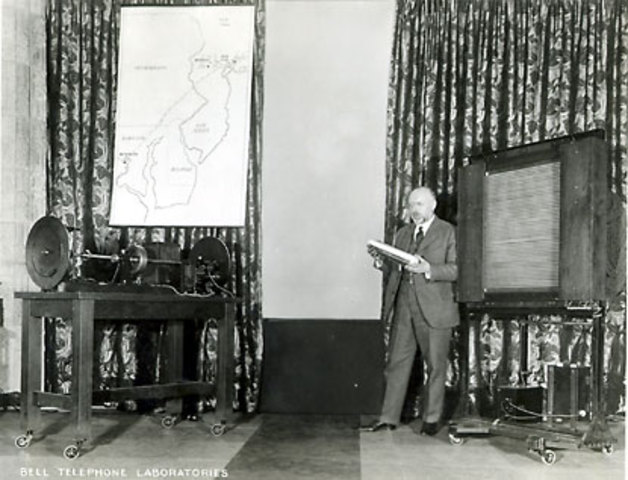 First public television demonstration