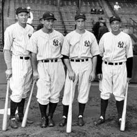 Joe DiMaggio and the New York Yankees go to the World Series for the fifth time