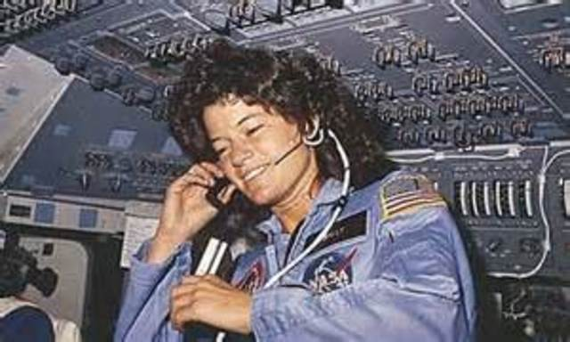 Sally Ride becomes the first American woman in space