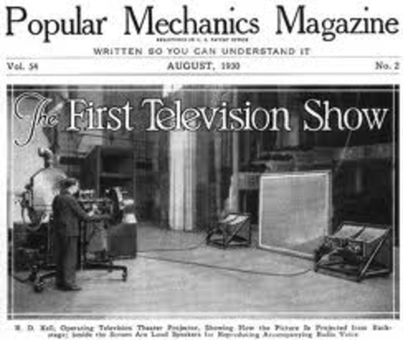 The first TV station is born