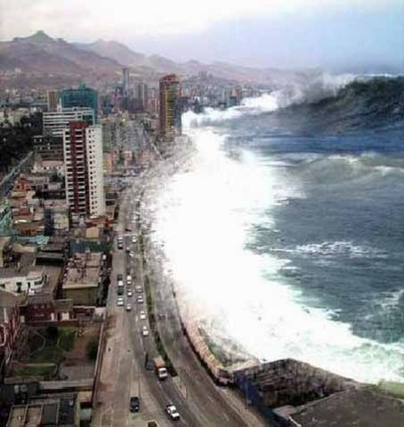 Massive tidal wave hits Indonesia