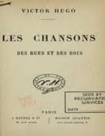 """Publicação de """"Les chansos des rues et des bois"""""""