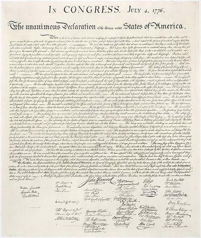 Declaración Independencia EEUU