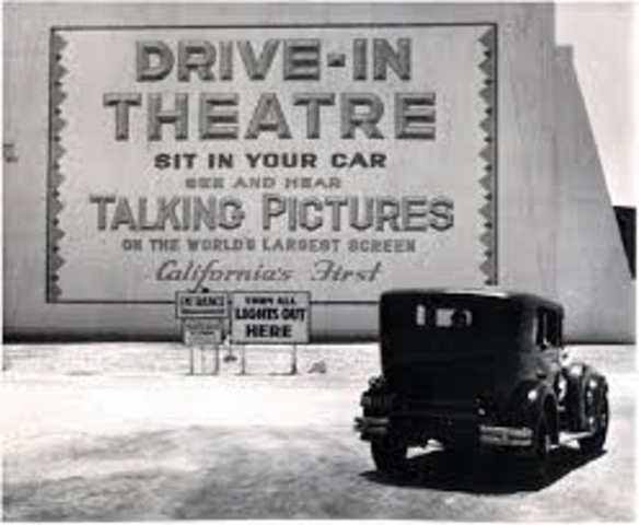 To the drive-in