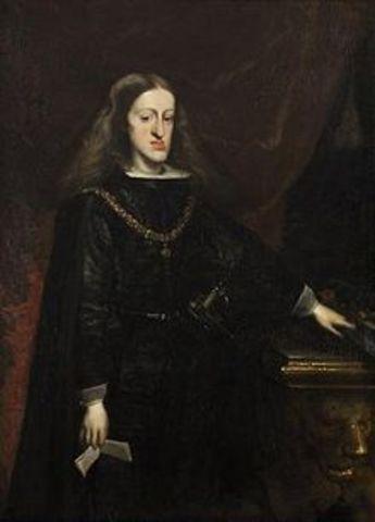 Death of Charles II, king of Spain