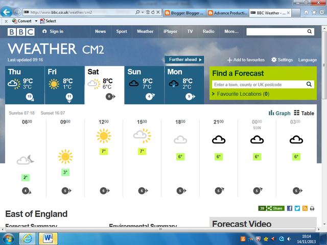 Weather for Shooting