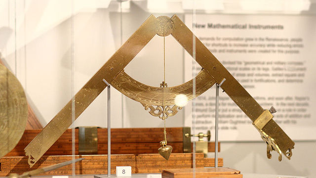 Galileo Invents the Military Compass