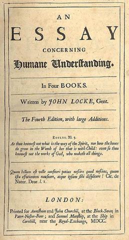 Locke Publishes 'An Essay Concerning Human Understanding'