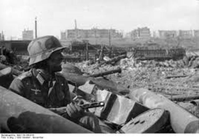 I tedeschi entrano a Stalingrado.