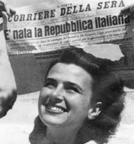 L'Italia diventa una repubblica.