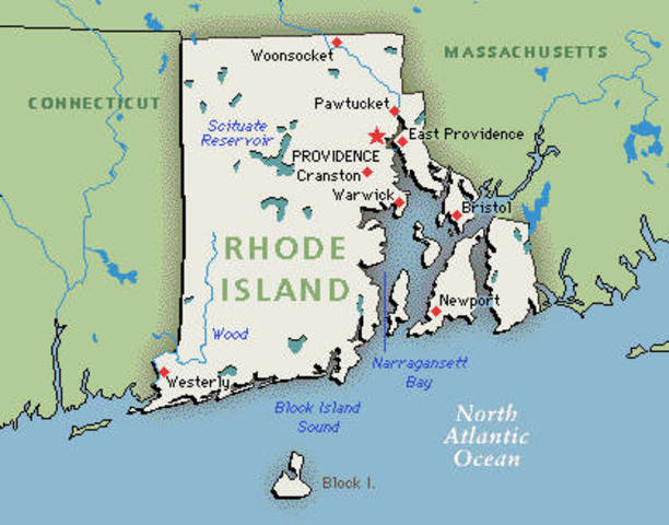 Rhode Island declares slavery illegal