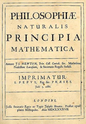 """Isaac Newton publishes """"Principia"""""""