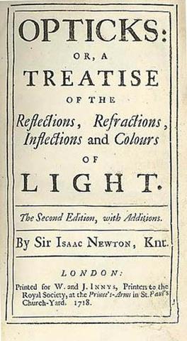 """Isaac Newton publishes """"Opticks"""""""