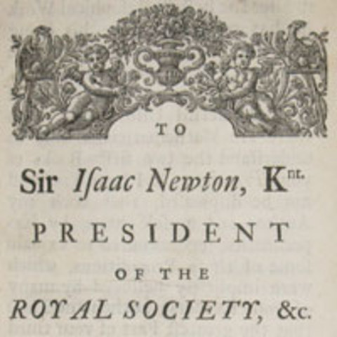 Isaac Newton is elected president of The Royal Society