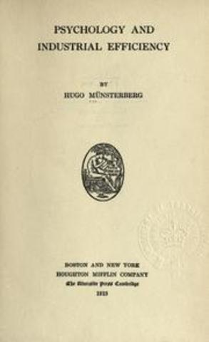 """Publicación del libro """"Psychology of industrial efficiency"""""""