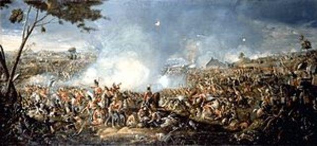 La batalla de Waterloo