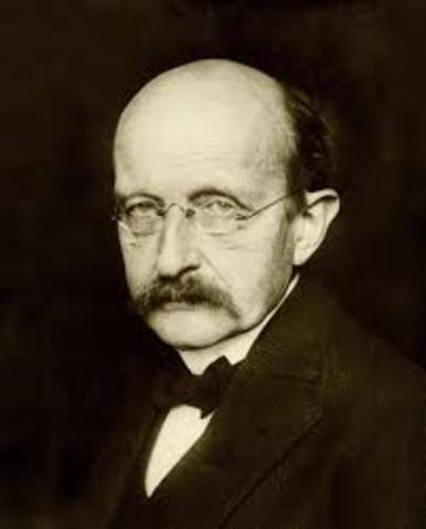 Max Planck propes his Quantum Theory