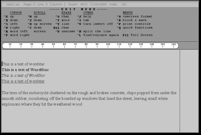 procesador de textos WordStar
