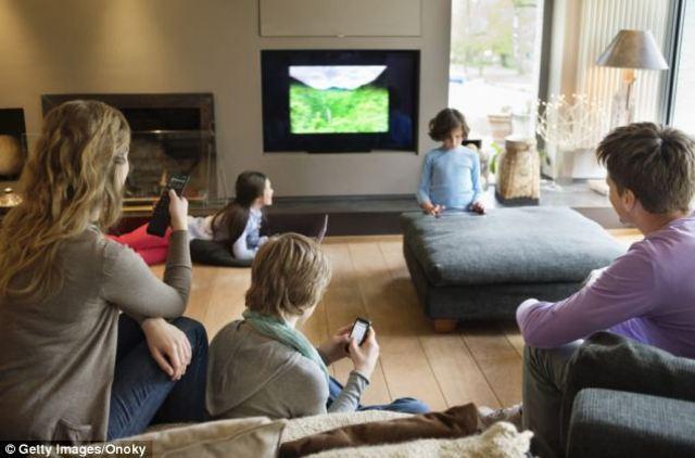 Hslf of homes have color TVs
