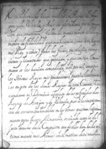 First Decreto de Nueva Planta