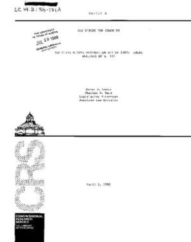 Congress Restoration Act or 1987