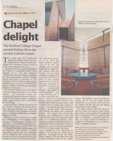 Chapel Opened