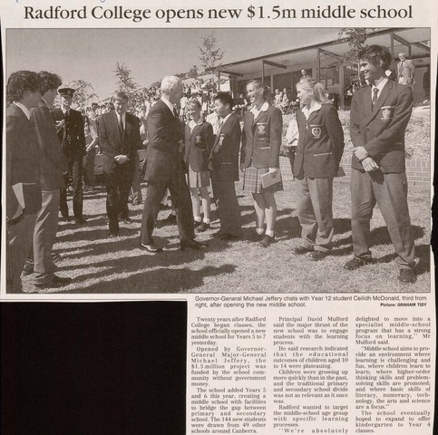 Middle School Opening