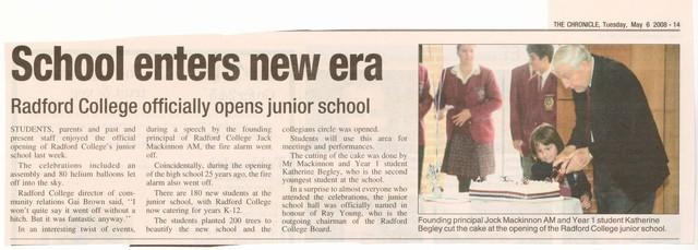 Junior School Opening