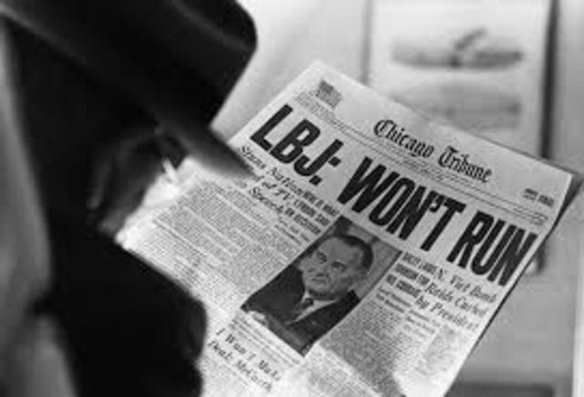 Lyndon Johnson Announcement