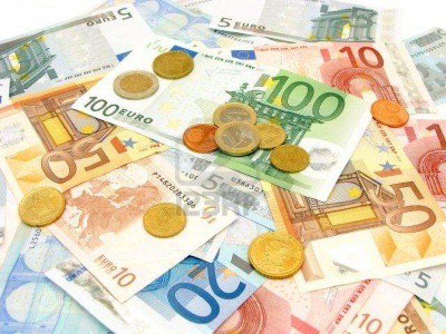 Euro en billetes y monedas