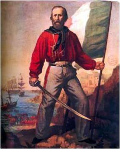 """Garibaldi y  sus """"Mil camisas rojas"""""""