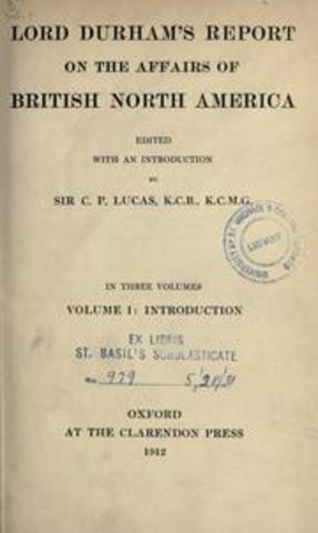 Lord Durham's Report presented to the Colonial Office