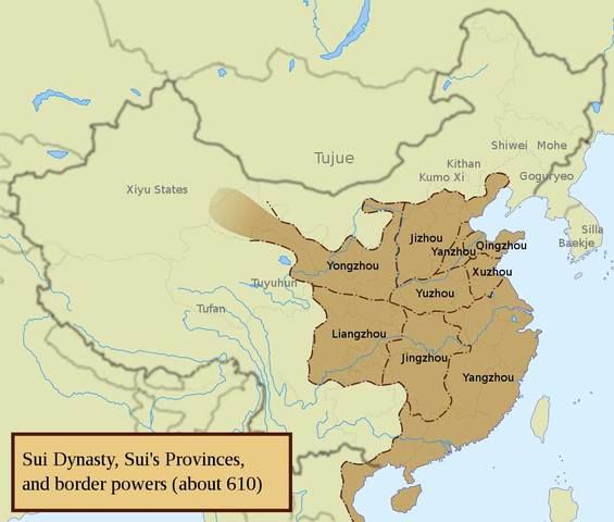 Sui Dynasty Begins